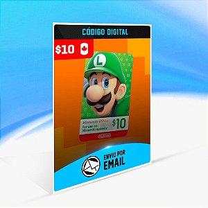 CARTÃO NINTENDO ESHOP CANADA SWITCH / WII U / 3DS $10 DÓLARES