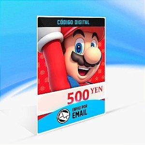 CARTÃO NINTENDO ESHOP JAPÃO SWITCH / WII U / 3DS 500 YEN