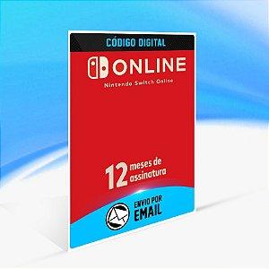 Assinatura individual de 12 meses (365 dias) - Nintendo Switch Código 16 Dígitos