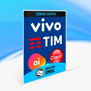 Recarga Celular Tim Claro Vivo Oi R$ 20,00