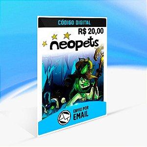 Cartão Pré-pago da Neopets R$20 Reais