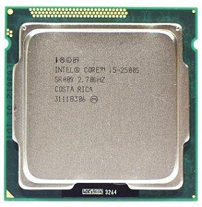 SN - PROCESSADOR 1155 INTEL  I5 2500s 2.7GHZ - P