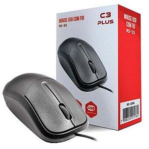 MOUSE USB BASICO MS-35BK C3T - P