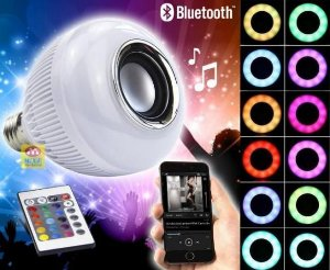 CAIXA SOM BLUETOOTH LAMPADA LED