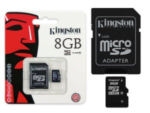 CARTÃO MEMORIA MICRO SD 8 GB KINGSTON