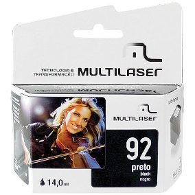 CARTUCHO COMPATIVEL 92XL BLACK MULTILASER