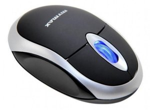 MOUSE USB C/ NEON/SCROLL PRETO/PRATA MYMAX - P