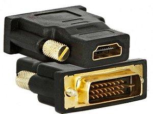 ADAPTADOR FEMEA HDMI X DVI - P