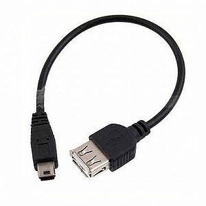CABO ADAPTADOR USB FEMEA X MICRO 5 PINOS AZUL