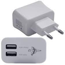 CARREGADOR USB TOMADA 2 SAIDAS