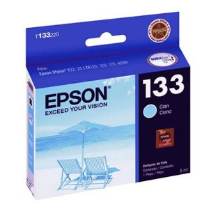 CARTUCHO 133 CYANO COMPATIVEL EPSON