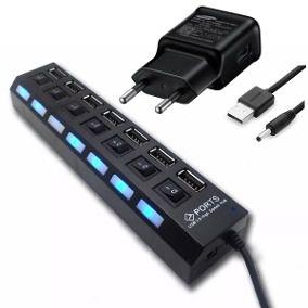 HUB USB 7 PORTAS C/ FONTE KNUP