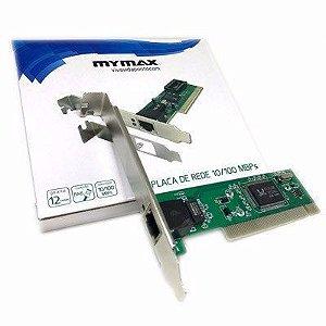 PLACA REDE PCI 10/100MBPS CHIPSET REALTEK MYMAX