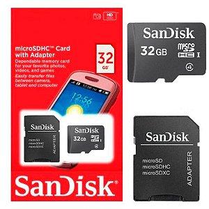 CARTÃO MEMORIA MICRO SD 32GB SANDISK