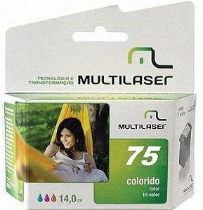 CARTUCHO COMPATIVEL 75XL COLOR MULTILASER
