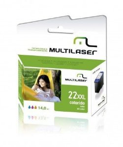 CARTUCHO COMPATIVEL 22XL COLOR MULTILASER