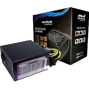 FONTE ATX 600W 80+ BRONZE 24 PINOS 2 SATA - MYMAX