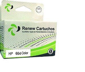 CARTUCHO REMANUFATURADO HP 664 COLOR