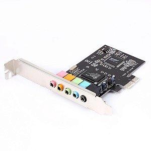 PLACA SOM PCI - E 5.1 6 CANAIS PERF BAIXO