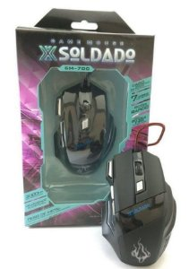 MOUSE USB GAMER SOLDADO 3000DPI