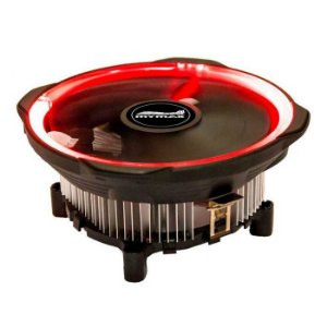 COOLER P/ PROC UNIVERSAL AMD INTEL LED VERM MYMAX