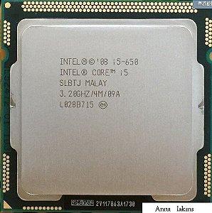 SN - PROCESSADOR 1156 INTEL  I5-650 3.2GZ 4MB