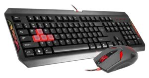 KIT TECLADO E MOUSE USB GAMER BLOODY Q1100