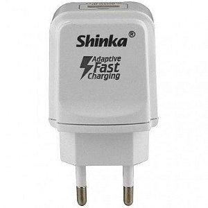 CARREGADOR USB TOMADA 3.1A SHINKA