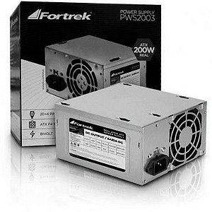 FONTE ATX 200W FORTREK 20+4P S/CABO - P