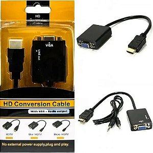 CABO CONVERSOR HDMI/VGA C/ ATIVADOR