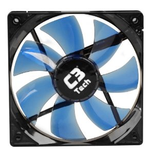 COOLER FAN P/ GABINETE 120MM F7 LED AZUL C3T