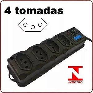 FILTRO DE LINHA 4 TOMADAS ELETROPLAS