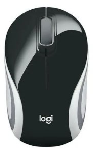 MOUSE WIRELESS MINI M187 PRETO/BRANCO LOGITECH