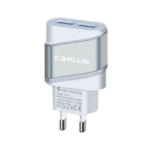 CARREGADOR AC/USB UNIVERSAL 2A UC-20BWH C3PLUS