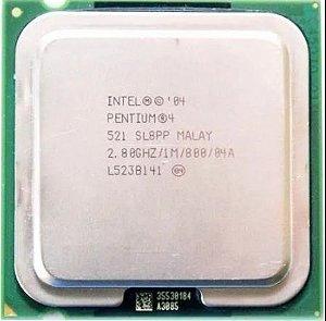SN - PROCESSADOR 775 INTEL PENTIUM 04 521 2.8 GHZ