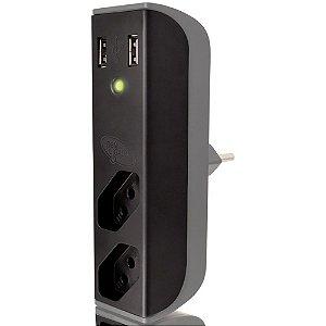 ADAPTADOR DE TOMADA C/ USB COLETEK ENERGIA - P