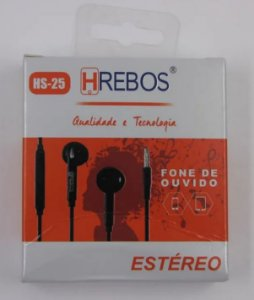 FONE C/ MICROFONE HS25 HREBOS