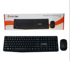 KIT TECLADO E MOUSE WIRELESS OFFICE TC3211 HAYOM