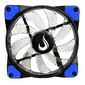 COOLER FAN P/ GABINETE 120MM LED AZUL RISE