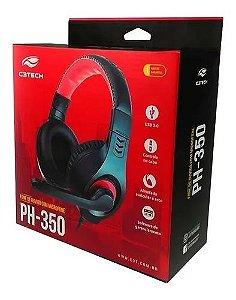 FONE C/ MIC USB PH-350BK PRETO C3T