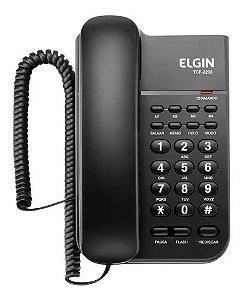 TELEFONE C/ FIO ELGIN COM LED IND DE CHAMADA