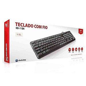 TECLADO USB KB-11BK PRETO C3TECH - P