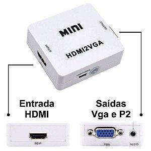CONVERSOR HDMI X VGA - P