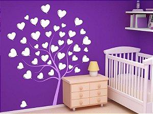 Adesivo de parede - Árvore de Corações