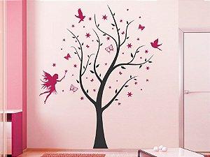 Adesivo de parede - Árvore com Fada