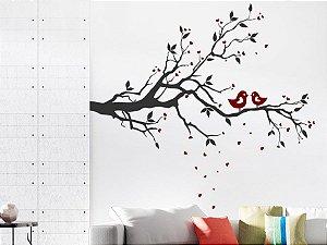 Adesivo de parede - Pássaros Amorosos