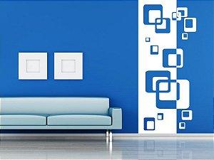 Adesivo de parede - Faixa Quadrados Sobrepostos