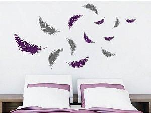Adesivo de parede - Penas