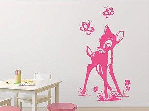 Adesivo de parede - Cervo e Borboletas