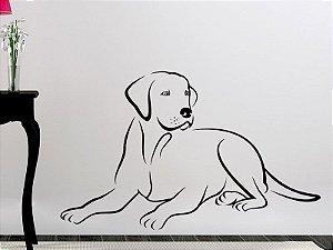 Adesivo de parede - Cachorro Labrador